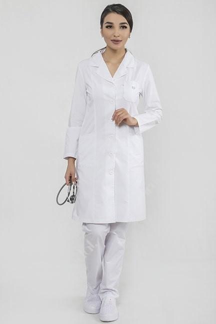 Классический медицинский халат