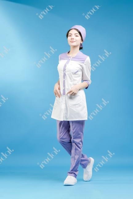 Медицинский костюм брюки в комплекте женский